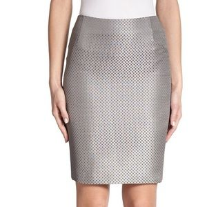 Akris punto silver gray skirt pencil